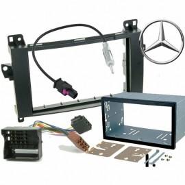 Kit mascherina adattatore autoradio 2 DIN per Mercedes Classe A / B / Viano / Vi