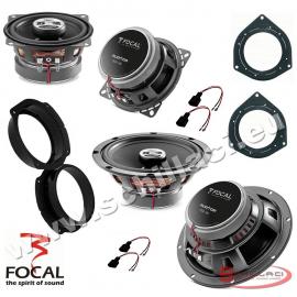 Kit 4 Casse altoparlanti FOCAL per FIAT BRAVO con adattatori