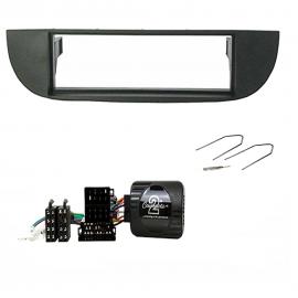 Kit montaggio mascherina autoradio 1 DIN Fiat 500 1 DIN + comandi al volante