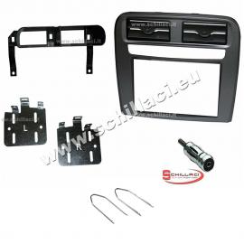 Kit mascherina per autoradio 2 DIN FIAT Grande Punto nero supporto montaggio