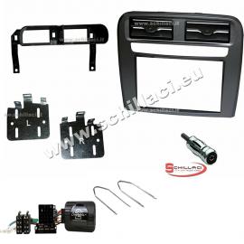 Kit mascherina per autoradio 2 DIN FIAT Grande Punto nero supporto montaggio...