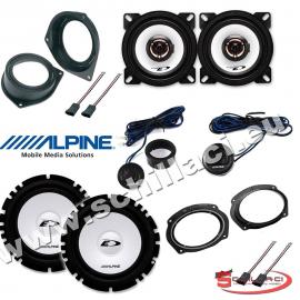 Kit 6 casse per FIAT BRAVO Alpine con adattatori e supporti