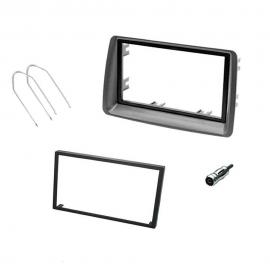 Kit mascherina autoradio 2 DIN per FIAT PANDA 2003-2012