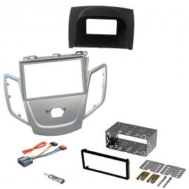 Kit montaggio mascherina adattatore autoradio 2 DIN FORD FIESTA 2008 con placia
