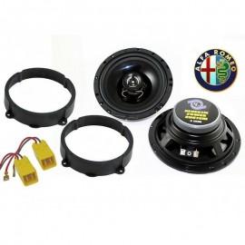 Altoparlanti + supporti per ALFA 159 120 watts - 16,5 cm casse anteriori / poste
