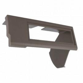 Supporto adattatore montaggio autoradio per FIAT PANDA 3 porte grigio