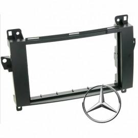 Mascherina montaggio autoradio  2 DIN Mercedes Classe A / B / Viano / Vito / Spr